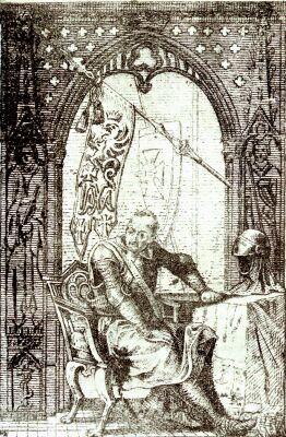 Sztych z wizerunkiem świątobliwego Jaksy z Miechowa, XVIII w., Zbiory rodziny Jaxa-Kwiatkowskich, fot. Zb. Pęckowski